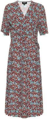 A.P.C. Mathilda floral midi wrap dress