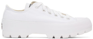 Converse White Chuck Taylor All Star Lugged OX Low Sneakers
