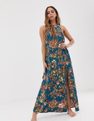 Tavik maxi beach dress in floral-Multi