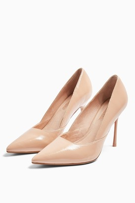 Topshop Womens Georgia Pointed Court Shoes - Natural