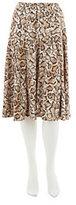 George Simonton Shoulder Top Elastic Waist Skirt with Seam Detail