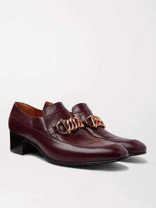 Gucci Horsebit Leather Loafers - Burgundy