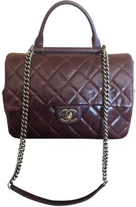 Chanel Burgundy Leather Handbags