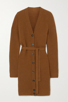 Yoox Net A Porter For The Prince's Foundation YOOX NET-A-PORTER For The Prince's Foundation - Belted Ribbed Cashmere Cardigan - Camel