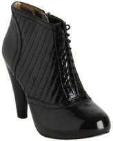 black quilted patent 'Emily' ankle boots