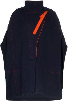 Chloé Hooded Poncho Coat