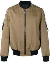 Joseph zip detail bomber jacket - men - Cotton/Linen/Flax/Polyester/Viscose - S