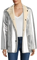 Opening Ceremony Faux Fur Reversible Culver Coat