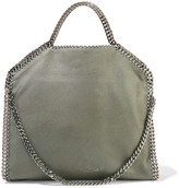 Stella McCartney The Falabella Medium Faux Brushed-leather Shoulder Bag - Gray green