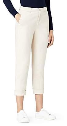 MERAKI Women's Stretch Slim Fit Cropped Chino Trouser,(Size: Small)