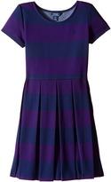Polo Ralph Lauren Ponte Stripe Dress (Little Kids/Big Kids)
