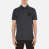 Versace Collection Round Logo Polo Shirt Blu Notte