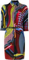 Versace patterned shirt dress - women - Silk - 42