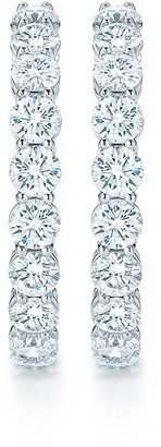 Kwiat Platinum Diamond Hoop Earrings