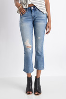 Blank Weekend Warrior Cropped Flare Jeans