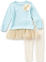 Bonnie Jean Little Girls 2T-6X Sweater Dress and Leggings Set