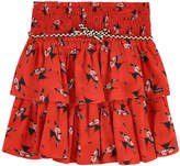 Catimini Printed skirt with flounces