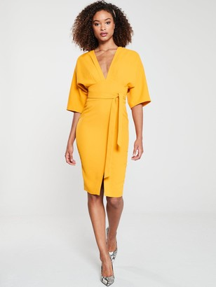 Very MILANA Kimono Sleeve Pencil Dress - Yellow