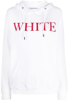 Quantum Courage White print hoodie