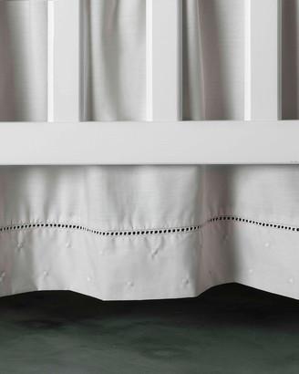 Bovi Fine Linens Amparo Crib Dust Skirt, Pink