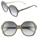Fendi Women's 56Mm Oversize Sunglasses - Black