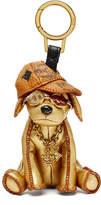 MCM Metallic Golden Dog Handbag Charm