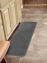 "Ottomanson Softy Collection Color Solid (Machine-Washable/Non-Slip) Kitchen/Bathroom Mat Rug, Gray, 20"" x 59"""