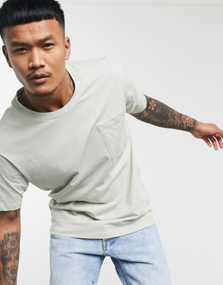 Jack and Jones Core t-shirt with large pocket in mint