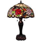 AMORA Amora Lighting AM101TL16 Tiffany Style Table Lamp
