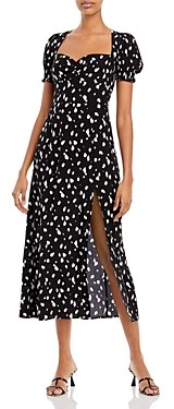 Bardot Millie Spot Print Midi Dress