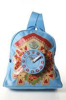 Oilily Light Blue Nylon Cuckoo Clock Small Backpack