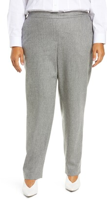 Lafayette 148 New York Fulton Elastic Waist Wool Blend Pants