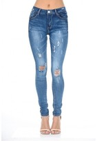 AX Paris Blue Distressed Ripped Jeans