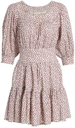 ANNA MASON Poppy Ruffle-Hem Mini Dress