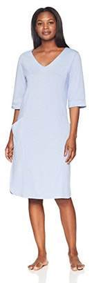 Arabella Amazon Brand Women's 3/4 Sleeve Tunic Nightgown