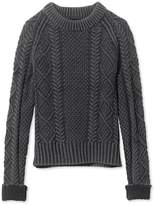 L.L. Bean Women's Signature Cotton Fisherman Sweater, Washed