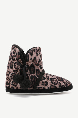 Ardene Faux Fur Leopard Slippers