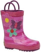 Western Chief Girls' Blossom Cutie Stripe Rainboot (Toddler-Youth)