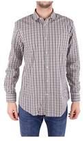 Trussardi Men's Blue/red Cotton Shirt.