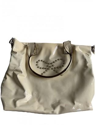 Anya Hindmarch Ecru Patent leather Handbags