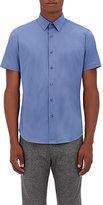 Theory Men's Sylvain Cotton-Blend Short-Sleeve Shirt-LIGHT BLUE