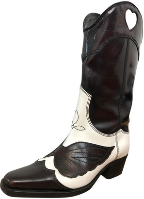 Ganni Fall Winter 2019 White Leather Boots