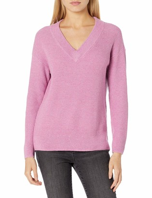 Goodthreads Amazon Brand Women's Everyday Soft Blend Thermal Long Sleeve V-Neck Sweater