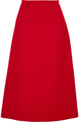 Prada Wool-gabardine Skirt