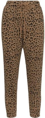 Nili Lotan Leopard-Print Cropped Trousers