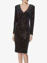Thumbnail for your product : Gina Bacconi Celeste Velvet Sequin Dress, Black