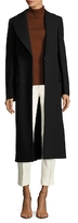 Jil Sander Wool Peak Lapel Canvas Coat