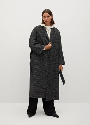 MANGO Woollen coat with belt