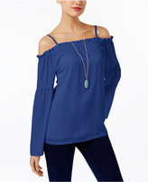 INC International Concepts Off-The-Shoulder Peasant Top, Only at Macy's