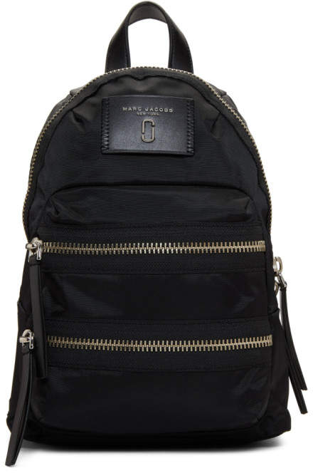 Marc Jacobs Black Mini Biker Backpack